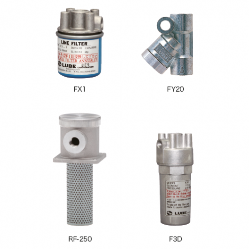 FX1 · F3D · FY20 · RF 型(ラインフィルター)